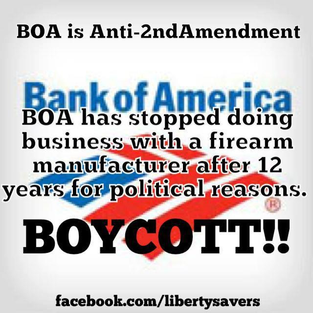 BOYCOTT BANK OF AMERICA! BUYCOT, $ go elsewhere :D