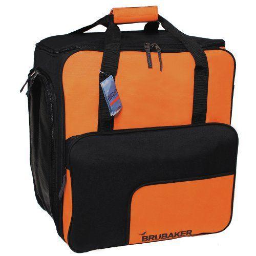 BRUBAKER 'Super Function 2.0' – Nouvelles couleurs – Sac à chaussures de ski, Sac casque, Sac à dos ski – Orange / Noir:…