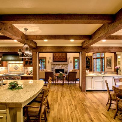 kitchens beam ceilings exposed beams house ideas design ideas ceiling ...