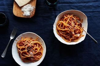 Bucatini Pasta with Pork Ragu Recipe on Food52 recipe on Food52