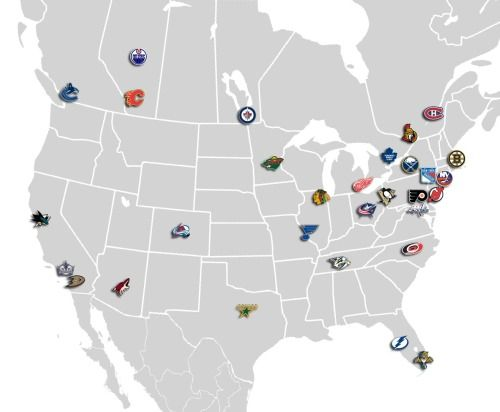 Best Sports Images On Pinterest Ice Hockey Hockey Stuff And - Sports loyalty by state in us map