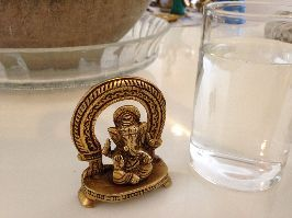 Brass Ganesha with a ring design