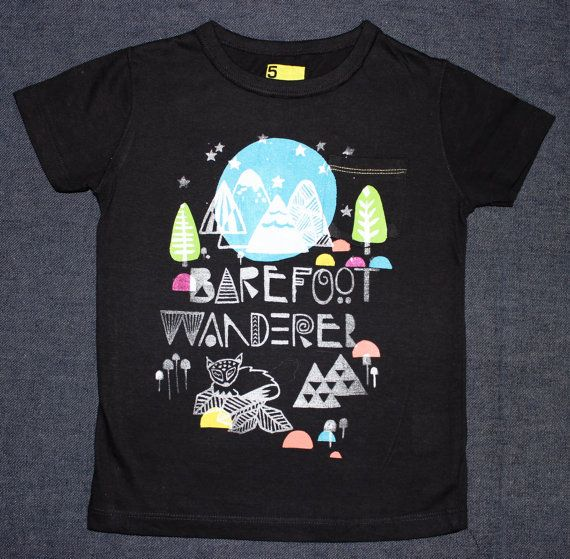 Barefoot Wanderer T Shirt. Sample special by wildtribe on Etsy, $15.00