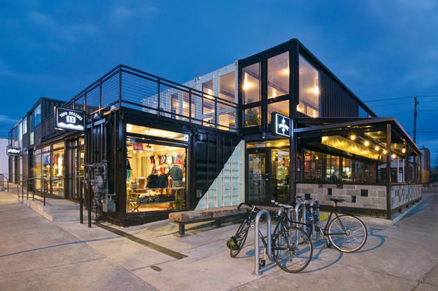 """When Ryan Diggins, a commercial developer in Denver, started contemplating his next project a few years ago, he was keen on using old shipping containers to construct a modern mixed-use microspace on an empty lot in RiNo. Unfortunately, nobody had attempted such a complex in Colorado (How would it work? What would it look like?), so he turned to a classic toy for early prototyping. """"I used Legos to mimic stacking and orienting the containers to see what looked best,"""" he says."""