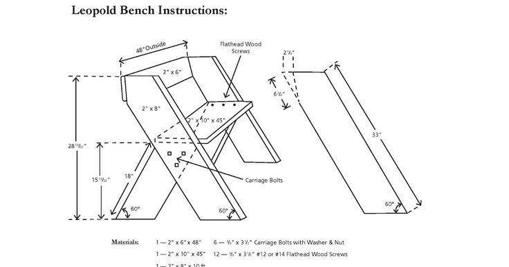 Aldo Leopold Bench Plans Farmhouse Table Leopold Bench