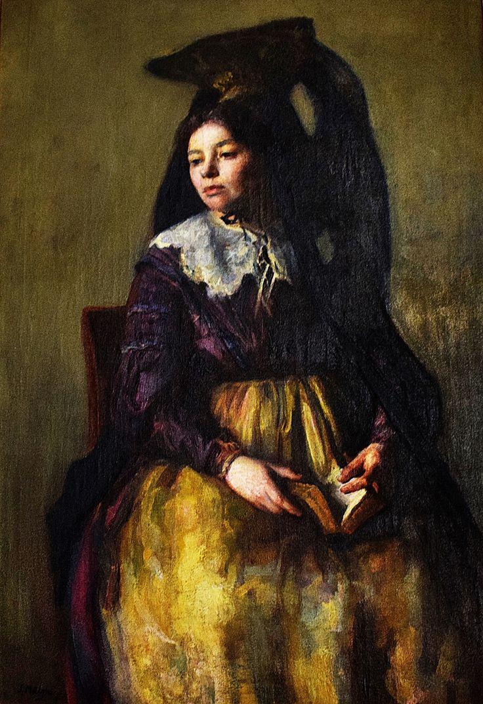 Samuel Mützner (1884-1959) - Femeie cu voal spaniol