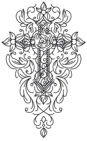 Gothic Gala - Cross design (UTH7010) from UrbanThreads.com