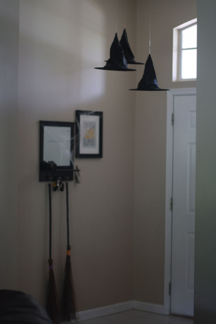 Hanging witch hats:
