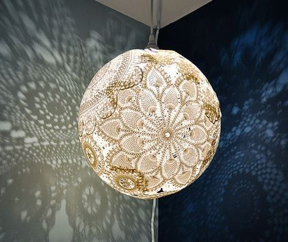 How To Make STUNNING Lace Doily Lanterns