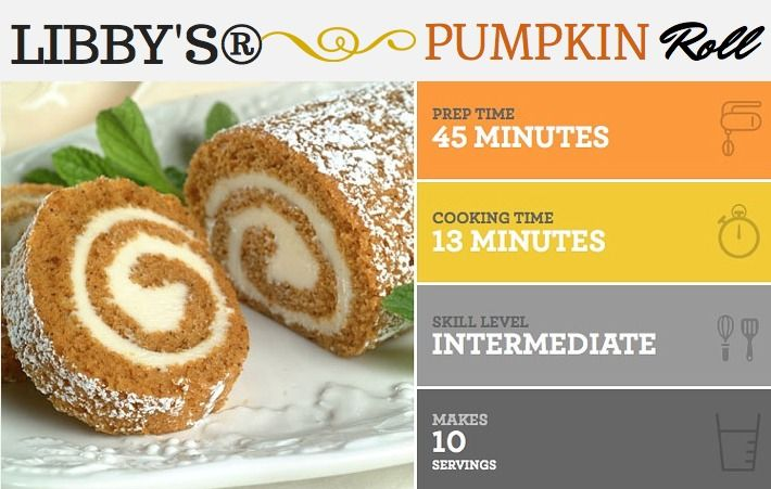 LIBBY'S Pumpkin Roll #Recipe