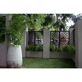 OutDeco Weathertex Screens Mahjong in rendered fence panels