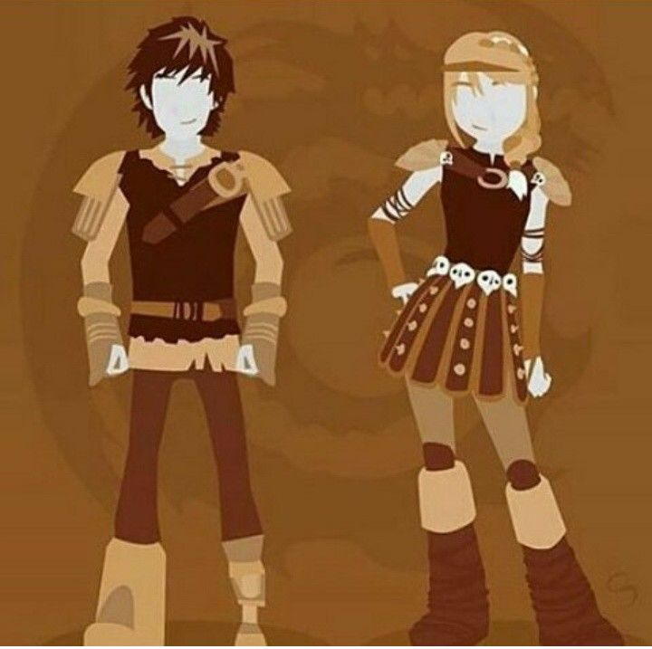 Hiccup and Astrid.