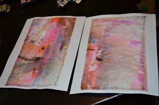 Crafty Moira: Craft Serendipity: Freezer Paper Journal Covers