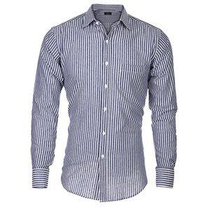Camisa hombre manga larga,camisas hombre azul oscuro,camisa de hombre