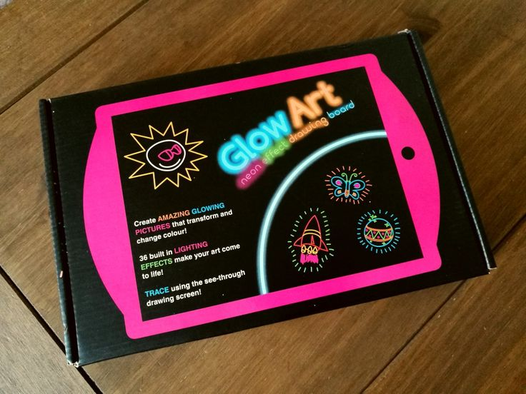 Review: Glow Art Neon Effect Drawing Board Giveaway. Drawing board with fluorescent pens and lights. #ad