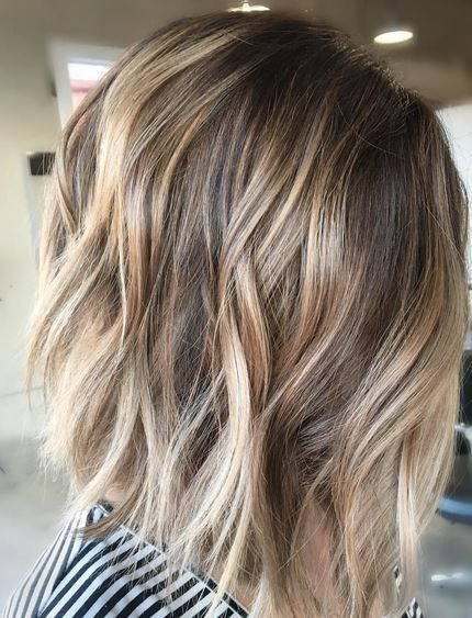 Sunkissed with blonde tips. This is ombre or 'sombre' on short hair. Color by Rayhana Rojo.