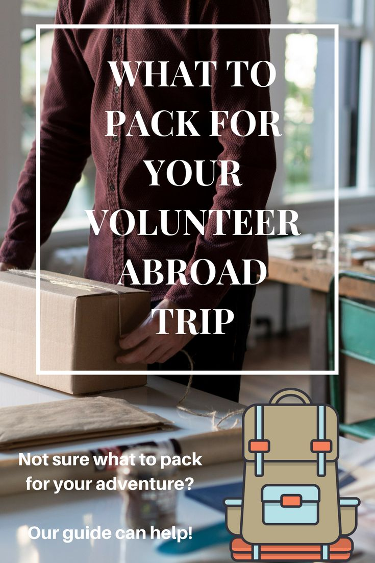 """One of the questions at the front of everyone's mind as they get ready to volunteer abroad is """"what in the world am I going to pack?"""" If this is your first time volunteering, this can be an especially daunting task. To help get you started, we have prepared a small list of basic necessities for your volunteer trip abroad, wherever your destination may be."""