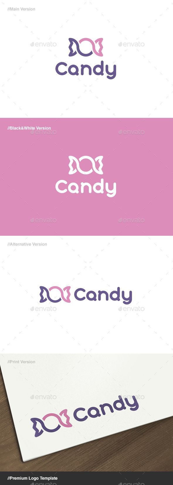 Candy Logo - EPS Template • Only available here ➝ http://graphicriver.net/item/candy-logo/13940072?ref=pxcr                                                                                                                                                                                 More
