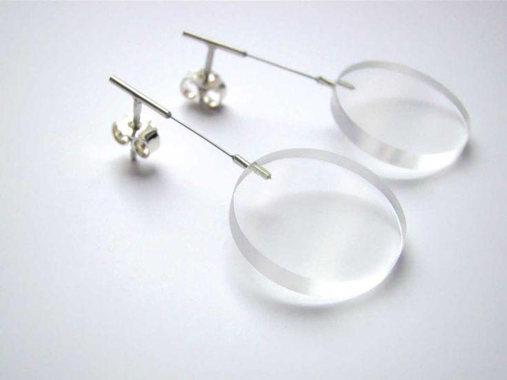 Lucie Houdkova, Circlets earrings, silver, stainless steel, plexiglass