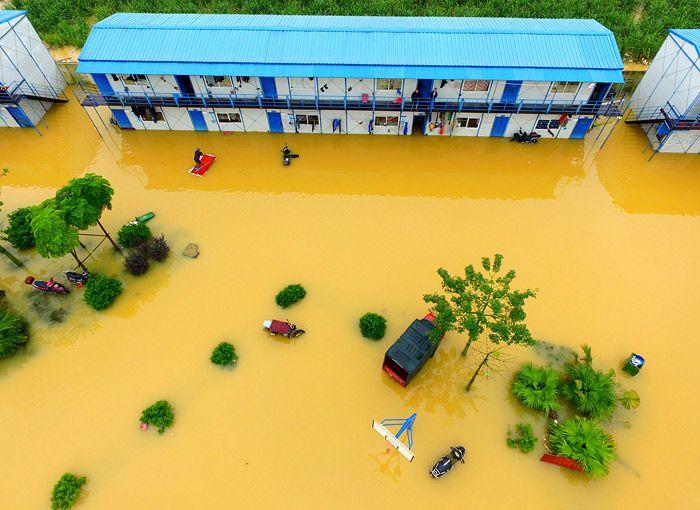 Наводнение в Гуанси-Чжуанском автономном районе Китая #новости #фото