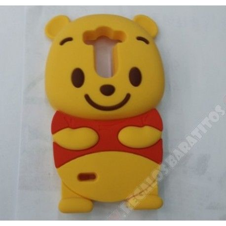 Carcasa diseño muñeco oso 3D silicona para LG G3 Mini