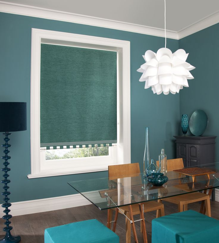 Roller Blinds by Louvolite - Chenille - Teal