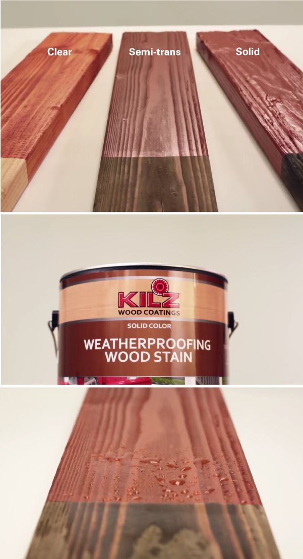 Make your outdoor wooden surfaces last longer with KILZ Weatherproofing Solid Color Stain. This acrylic wood finish offers protection from weathering caused by exposure to the sun, meaning you get more out of your exterior wooden surfaces. Use on decks, railings, shakes, shingles, siding, roofs, fences, and wood patio furniture.