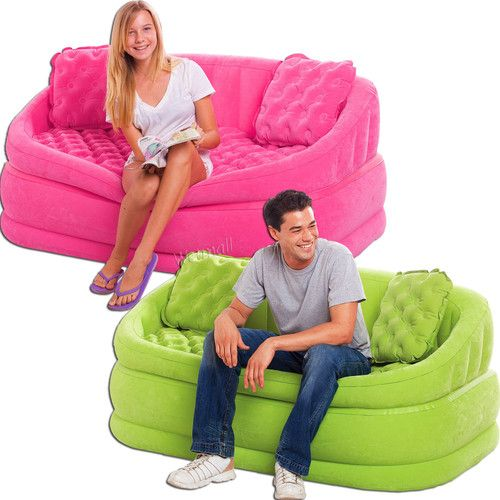 Details About Intex Cafe Loveseat Chair Inflatable Gaming Lounge Sofa Dorm Chair New Dorm