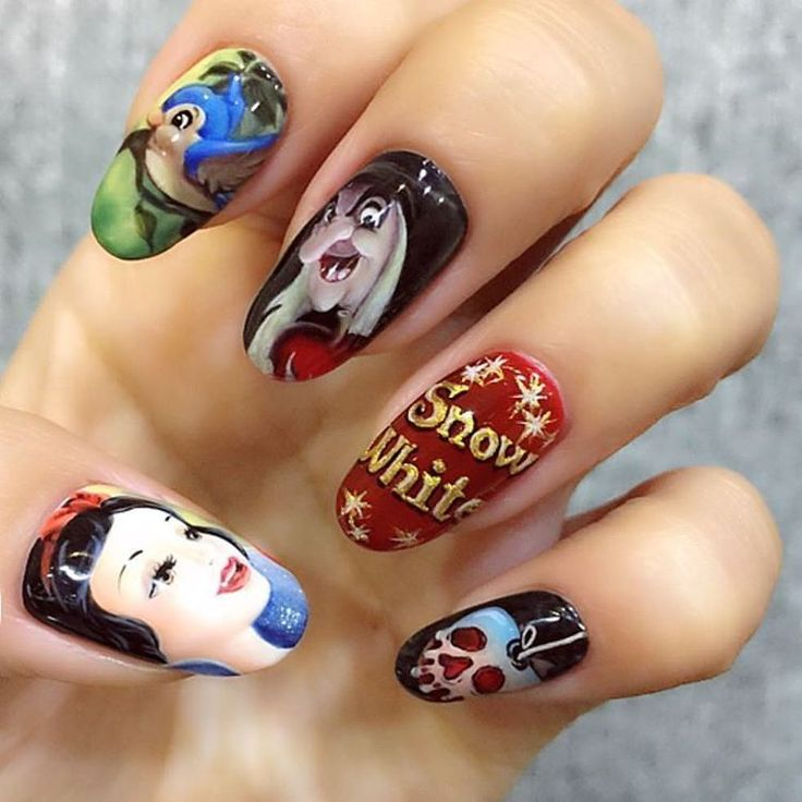 Snow White Nail Designs Choice Image - nail art and nail design