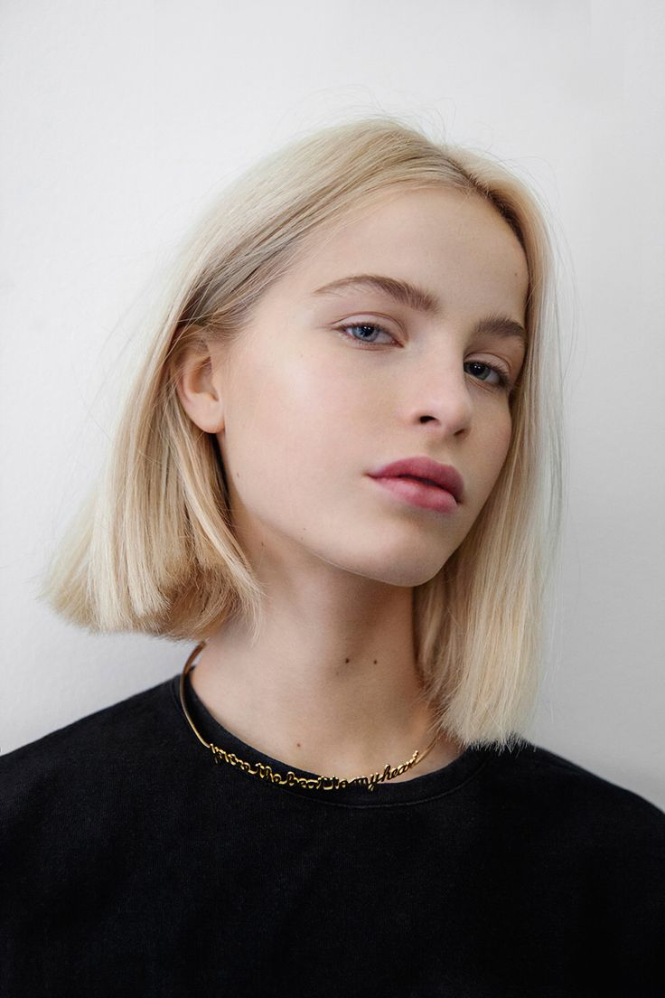 like it all!!! like this cute simple clothing and hair color, natural makeup and bob!!!