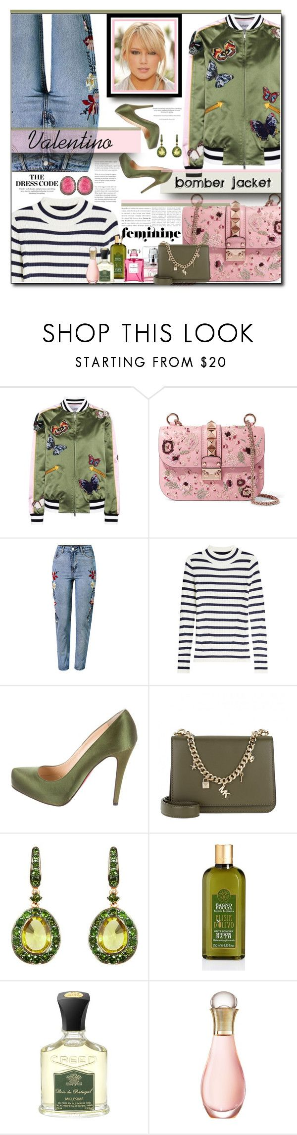 """Fresh Set for 2018"" by polyvore-suzyq ❤ liked on Polyvore featuring Valentino, WithChic, Steffen Schraut, Christian Louboutin, Michael Kors, Annoushka, Creed, Christian Dior, Chanel and Carousel Jewels"