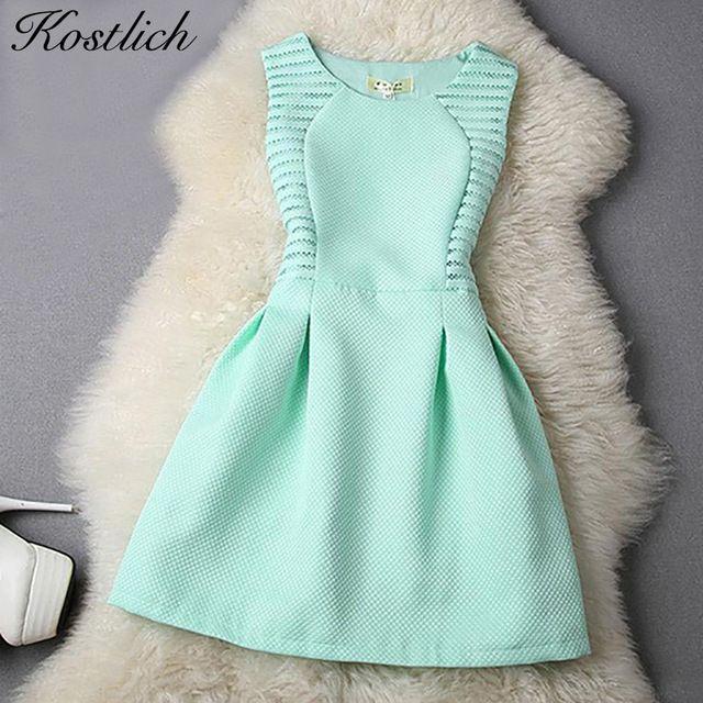 Kostlich Mulheres Evening Vestidos de Festa 2016 Vestido de Verão Elegante A Linha Lace Bodycon Casual Mini Vestido Vestido de Verão Vestidos de Roupas