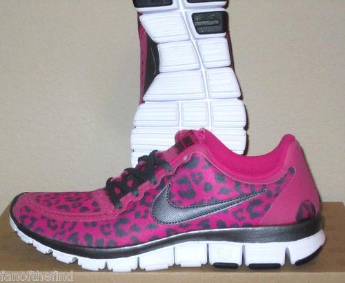 b0c66ac92084 Women s Nike Free 5 0 V4 Leopard Animal Pink Running Shoes Size 9 9 5 RARE