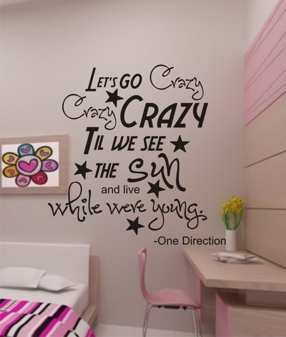 One Direction Vinyl Wall Decals Jerusalem House