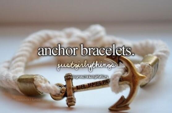 Love anchor bracelets!