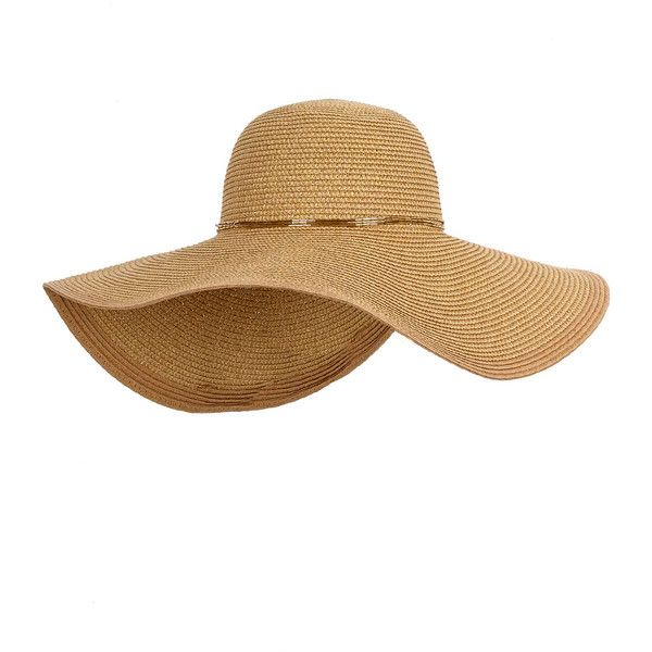 Rental Echo Accessories Straw Floppy Hat ($10) ❤ liked on Polyvore featuring accessories, hats, brown, brown hat, metallic hat, floppy hat, floppy straw hat and straw hats