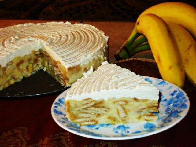 Бърза бананова торта с бисквити   Рецепти – напишете рецепта