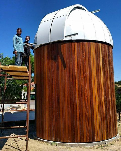 Members of Astrophysics Association of Asea on the construction site of the observatory. #asea #architecture #arcadia #observatory #astrophisics (photo credits Mike Munro)
