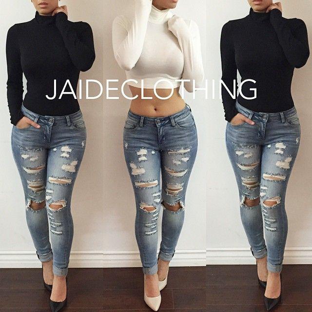 Con mi abrigo negro! bello me quedarían estos jeans!
