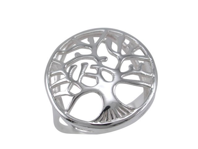 Sterling Silver 21mm Tree Of Life Ring