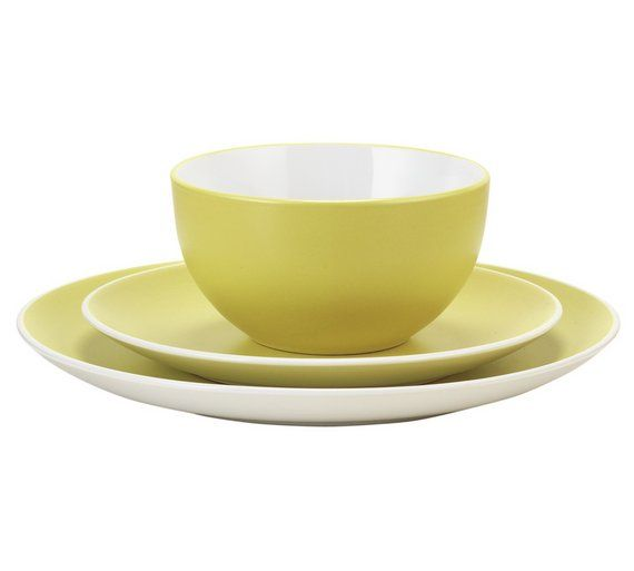 Buy ColourMatch 12 Piece Stoneware Dinner Set - Zest at Argos.co.uk, visit Argos.co.uk to shop online for Crockery, Tableware, Cooking, dining and kitchen equipment, Home and garden