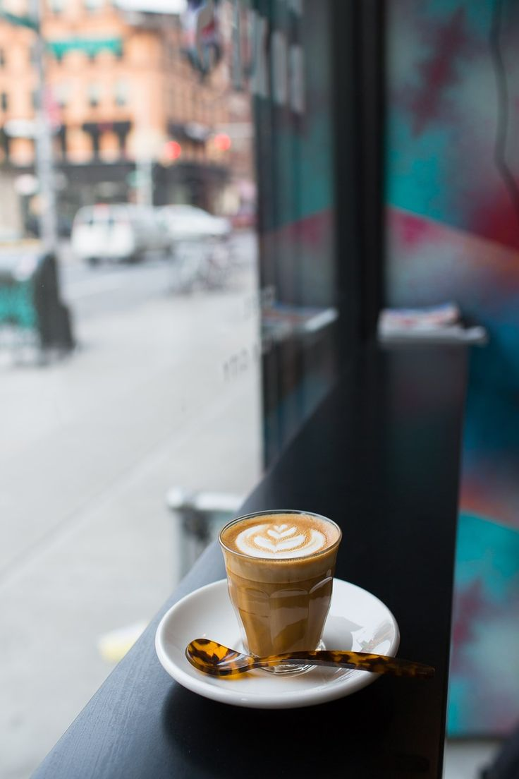 Happy Bones - A bright, clean and minimalistic space. Coffee is served with a tortoise spoon. 394 Broome Street, New York, NY 10013