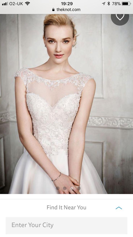 Kenneth Winston 1677 sleeveless wedding dress for sale on www.sellmyweddingdress.co.uk Size 10-12, £800  http://www.sellmyweddingdress.co.uk/listing/kenneth-winston-1677/2115
