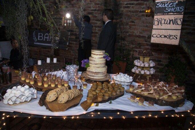 Mesa postres boda, matrimonio, mesa se dulces vintage