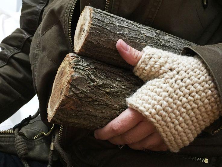 Patrón para tejer unos mitones sencillos   Crochet / Ganchillo ...