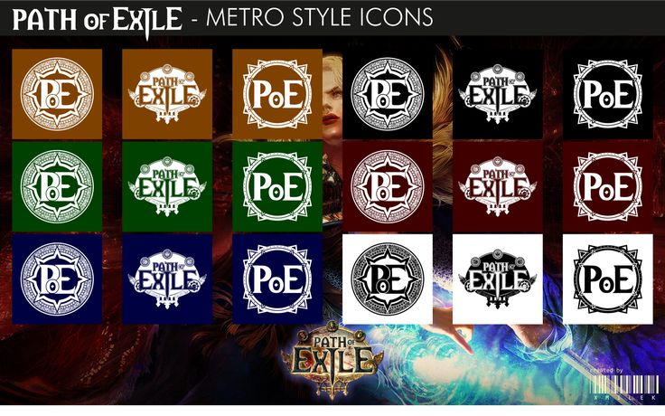 Path of Exile - Metro Style Icons by xmilek.deviantart.com on @deviantART