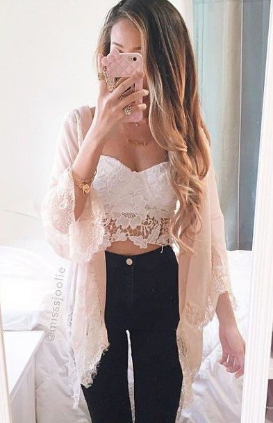 #summer #fashion / lace neutrals
