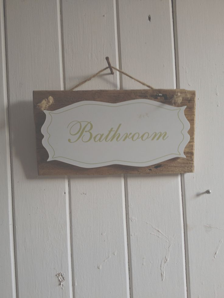 Bathroom sign £12