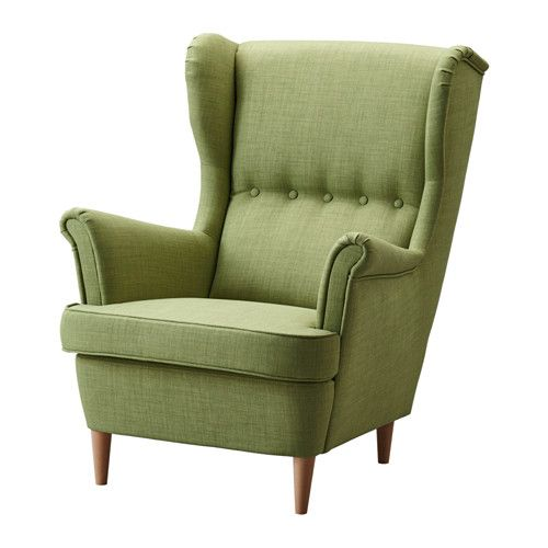 STRANDMON Wing chair - Skiftebo green - IKEA