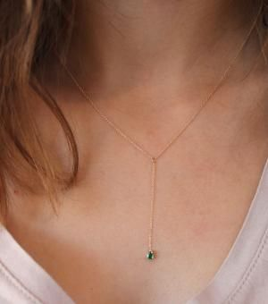 Catbird :: shop by category :: JEWELRY :: Necklaces :: Raindrop Necklace, emerald